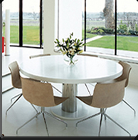 Dining table made of Corian