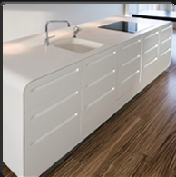 Kitchen sink made of Corian